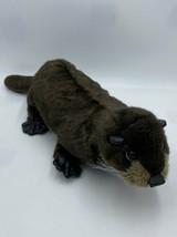 "Folkmanis River Otter Plush Hand Puppet Full Size 19"" Brown Stuffed Animal - $19.99"