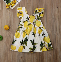 NWT Girls Lemon Citrus White Yellow Sleeveless Dress 2T 3T 4T5T - $10.99