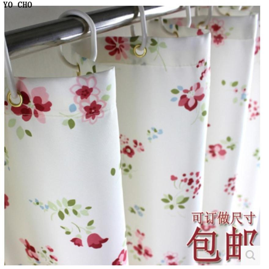 2014 high-grade Garden flowers bathroom shower curtain waterproof mildew thicken