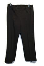 LARRY LEVINE DRESS PANTS SIZE 8 BLACK STRETCH BUSINESS WORK WEAR HOOK ZI... - $12.86