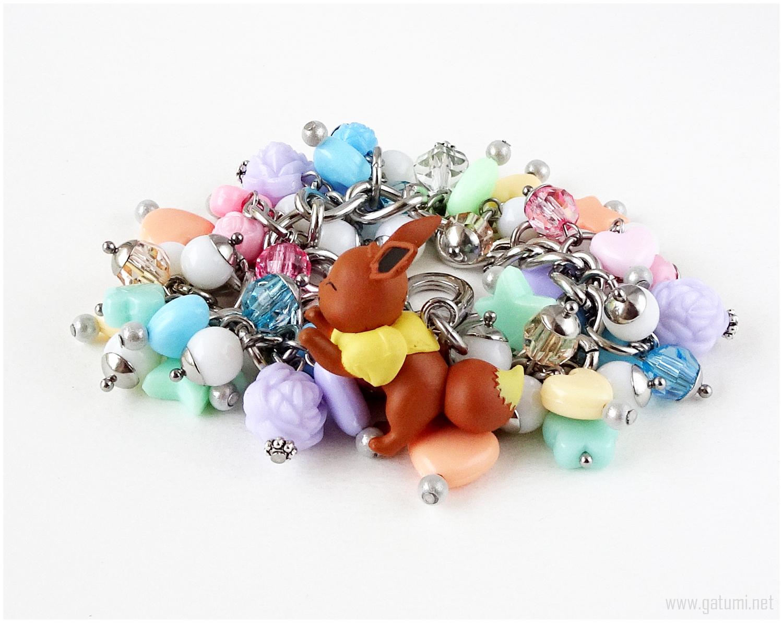 Eevee bracelet, Pokemon Jewelry, Fairy Kei Jewelry - $49.00