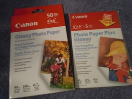 "Canon Photo Paper Glossy, 4""x6"", 50 Pack Sheets,  Brand New! bonus + 5 - $6.79"