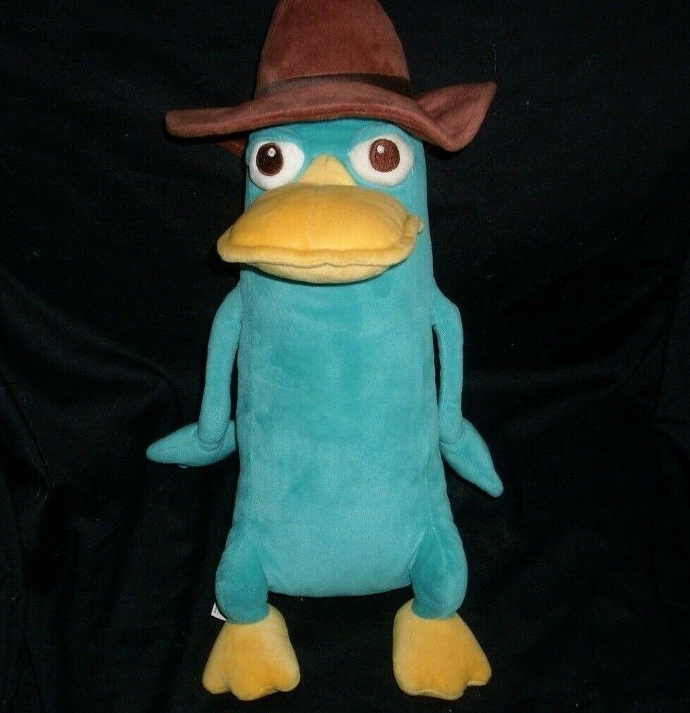 "15"" DISNEY PERRY SECRET AGENT PLATYPUS PHINEAS & FERB STUFFED ANIMAL PLUSH TOY"