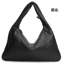 Women Woven Leather Bag Handmade Shoulder Bag Casual Ladies Handbags 201... - $97.33