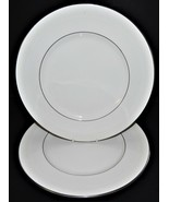2 Royal Doulton Amulet Pattern H4998 Dinner Plates Fine Bone China England - $44.54
