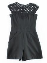 New Yoana Baraschi 2 Romper Crochet Lace Black Shorts Cap Sl West 22 Wom... - €37,24 EUR