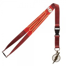 The Flash Logo Suit Up Dc Comics ID Badge Holder Keychain Lanyard - $8.75