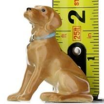 Hagen Renaker Dog Labrador Retriever Sitting Golden Ceramic Figurine image 2