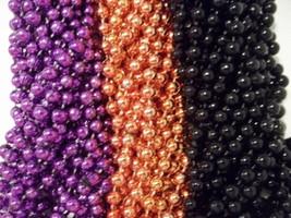 36 Mardi Gras Beads Party Favors Halloween Necklace Purple Orange Black ... - €5,10 EUR