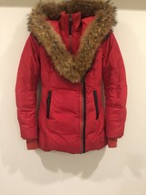 Mackage Women's Pink Down Coat Adali Lavish Fur Trim Hood Size XXS