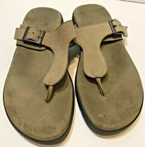 Aerosoles Cargo WIP Womens Thong Sandals Buckle Brown Size 9M - $20.26