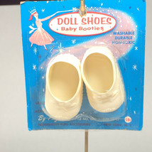 "vintage progressive doll bootie shoes for 16""-17"" doll NOS cream baby do... - $23.53"