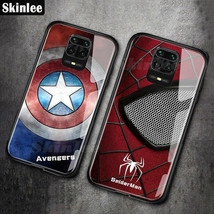 New 2020 For Xiaomi Redmi Note 9S Case Marvel Captain America Tempered G... - $8.89+
