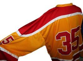 Custom Name # Philadelphia Blazers Retro Hockey Jersey New Yellow Any Size image 3