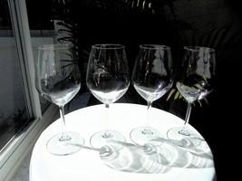 Set of 4 Bormioli Rocco Magnesium Pattern Crystal Chardonnay Wine Glasse... - $37.61