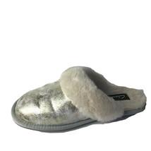 Clarks Comfort INDOOR/OUTDOOR Slippers Women's 8M Silver Metallic Leather New - $119.80