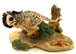 Schmid Lowell Davis Hound Dog Making Tracks with Turtle 1989 Figurine Si... - $77.22