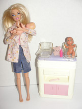 2002 Barbie Happy Family Dr Station Changing Table Pediatrician Doll 197... - $29.99