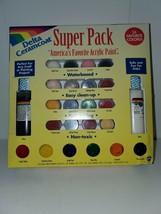 Delta Ceramcoat Super Pack 24 Vibrant Colors Americas Favorite Acrylic Paint B3 - $14.84