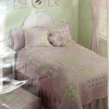 Maggie Miller Children's Collection Floral/checj Twin Quilt Pink, Green ... - $54.45