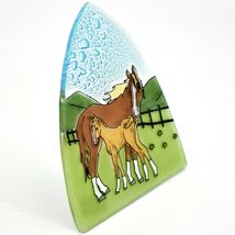 Fused Art Glass Mare & Foal Horse Nightlight Night Light Handmade in Ecuador image 5