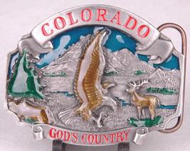 SISKIYOU Belt Buckle-Colorado God's Country-Eagle-Pewter/Enamal-P-43-199... - $42.06
