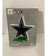 Dallas Cowboys BRXLZ  Team Logo 3-D Puzzle Construction Toy FOCO 535 pie... - $19.95
