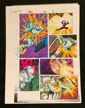 SPIDER-MAN Marvel original hand painted color guide art 1998 X-Man 2 pages! - $32.37