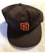 San Diego Padres Hat Vintage Sports Specialties YoungAn MLB Trucker Snap... - $39.59