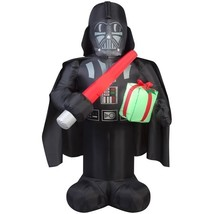 6 ft. Darth Vader with Light Saber and Present Christmas Inflatable - £50.33 GBP