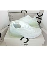 Nike Mens Air Max 270 Triple White Running Training Shoes Size 10.5 AH80... - $103.94