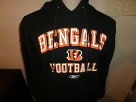 Cincinnati Bengals Reebok Black Hooded Hoodie NFL Sweatshirt Adult L 90-... - $34.64