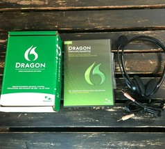 Dragon Speech Recognition Windows Software Headset Version 12 Home Editi... - $19.79