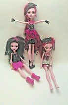 Monster High Draculaura Dolls Set of 3 Custom Bundle With Fashion Clothes  - $28.22