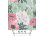 china red flowers shower curtain waterproof fabric bathroom screens curtains free thumb155 crop