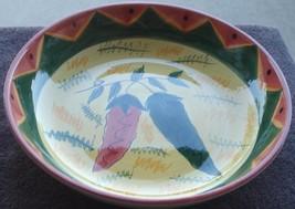 Hausen Ware Large Pottery Serving Bowl - BEAUTIFULLY PAINTED - LOVELY CO... - $34.64