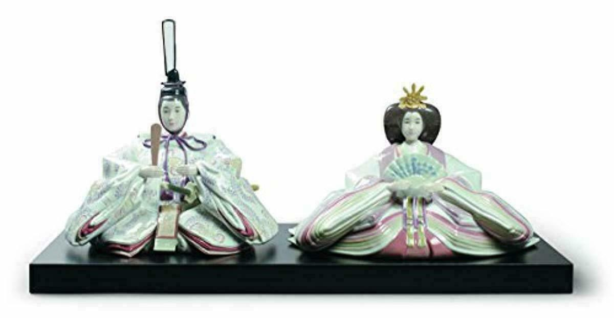 LLADRÓ Hina Dolls Figurine 2015. Limited Edition. Porcelain Hina Dolls Figure. - $3,480.99