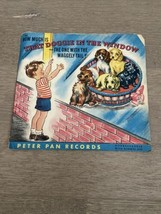 1953 VINTAGE CHILDREN'S PETER PAN RECORD 45 DOGGIE IN THE WINDOW GREAT G... - $8.00