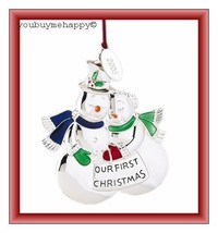 """Lenox  Christmas Ornament """"Our First Christmas Snow Couple""""  New in Box - $14.85"""