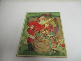 Vintage Whitman Santa Claus Frame Tray Puzzle complete - $17.81