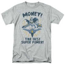 Batman Money T-shirt SuperFriends retro 80s cartoon DC grey graphic tee DCO638 image 2