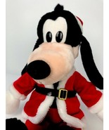 "Vintage Goofy Santa Christmas 18"" Plush Walt Disney Company Stuffed Animal - $34.64"