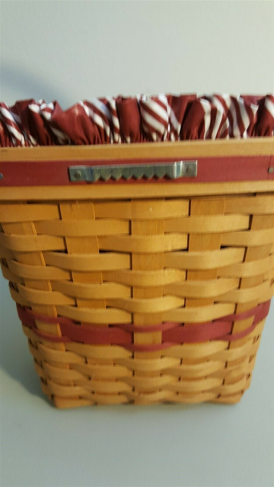 Longaberger 1998 Christmas Collection GLAD TIDINGS Basket Fabric Liner Protector
