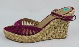 Guess Rowan Femmes Sandales Compensées Bride Violet Textile Supérieur Taille 8 - $23.64