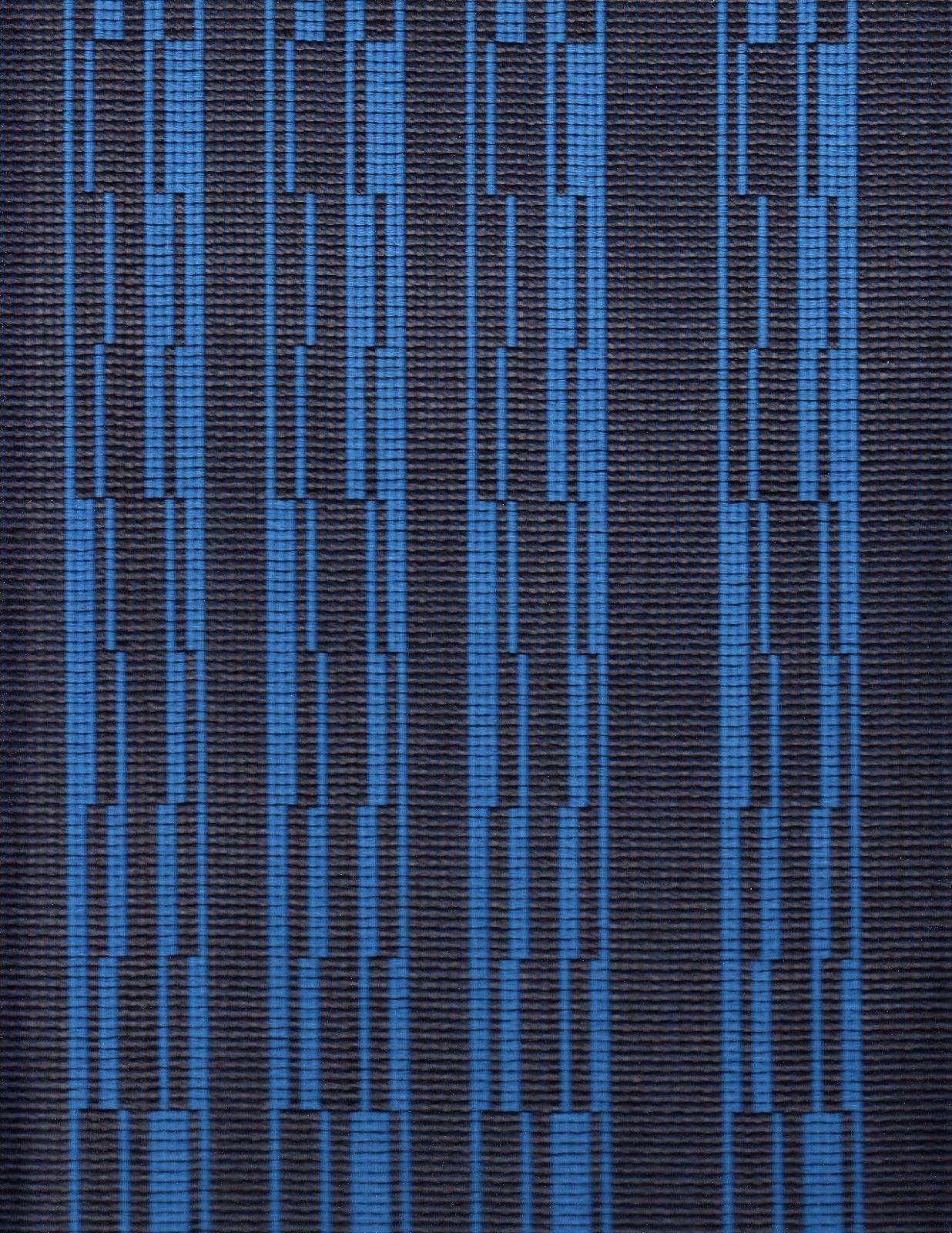 5.125 yds Architex Upholstery Fabric Geometric Progress Beluga Charcoal/Blue Y