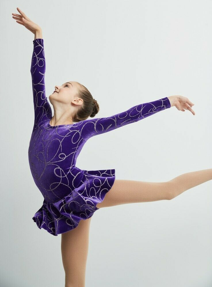 Primary image for Mondor Model 2723 GIrls Skating Dress - Purple Ribbons