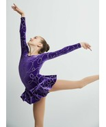 Mondor Model 2723 GIrls Skating Dress - Purple Ribbons - $69.99