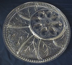 Vtg INDIANA Glass Deviled Egg Divided Relish Tray Plate Platter dish - $25.00