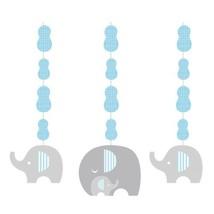 Little Peanut Boy 3 Hanging Cutouts Blue Elephant Baby Shower - $7.93 CAD