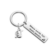 ENSIANTH Music Gift Where Words Fail Music Speaks Expandable Music Charm... - $13.61